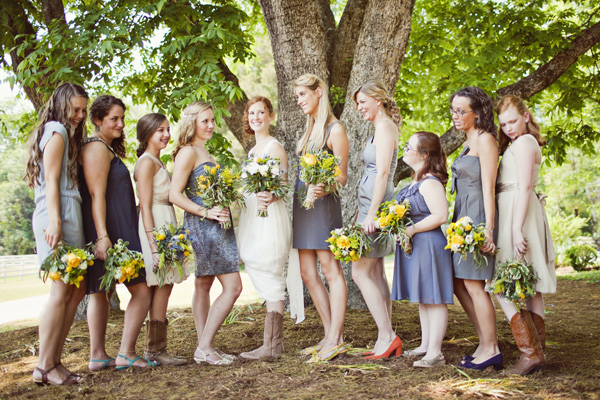 Unique Gray Bridesmaid Dresses