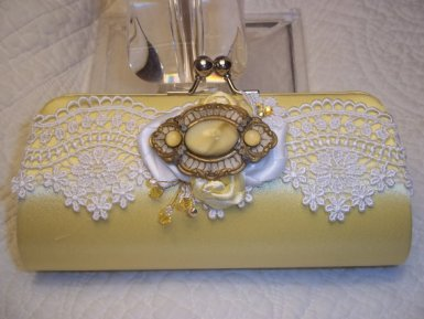 Bridal Clutch - Art Deco - Lace Clutch in Daffodil Yellow - Bridesmaid Clutch - Yellow Bridal Accessories $95.49 http://etsy.me/14FMwIs